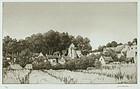 "Samuel Chamberlain, etching, ""The Verdant Village"""