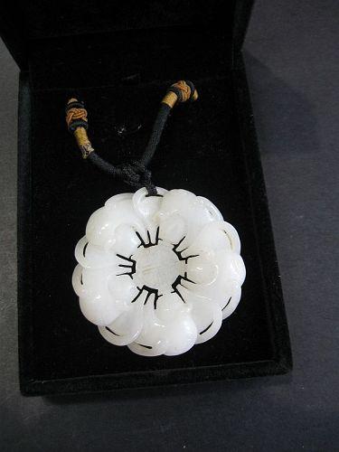 Chinese Natural Nephrite Jade Pendant