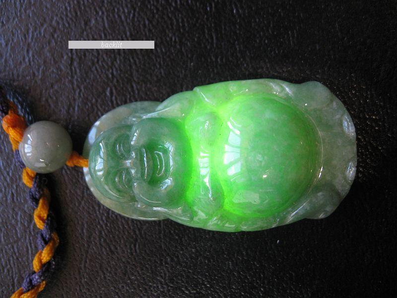 Chinese Jadeite Jade Buddha Pendant
