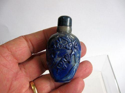 Chinese Lapis Lazuli Snuff Bottle
