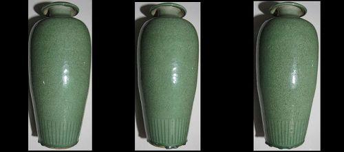 Chinese Stoneware Longquan Celadon Crackle Vase