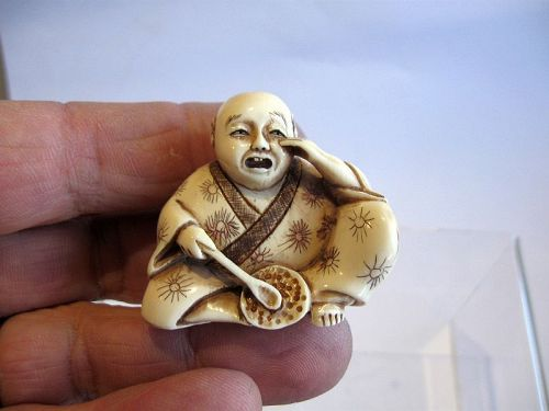 Japanese Netsuke of a Young Child Crying