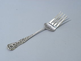 Dominick & Haff Rococco Pattern Serving Fork Circa 1888