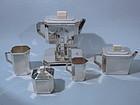 Christofle Art Deco Sterling Silver Tea Set C 1925