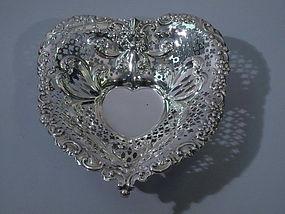 Gorham American Sterling Silver Heart Bowl 1955