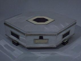 Large Art Deco-Style Silver Box