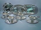 French Belle Epoque Dinner Service by Cardeilhac