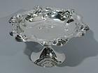 American Art Nouveau Sterling Silver Compote by Meriden Britannia