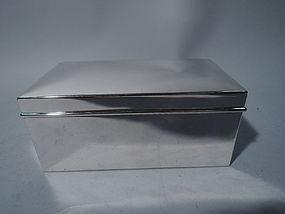 American Modern Sterling Silver Casket Box by Tiffany