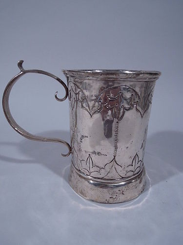 Antique South American Silver Mug - Extra Large C 1840