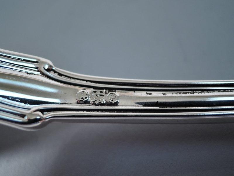 Antique Gorham Sterling Silver Stuffing Spoon in Villa Norfolk Pattern