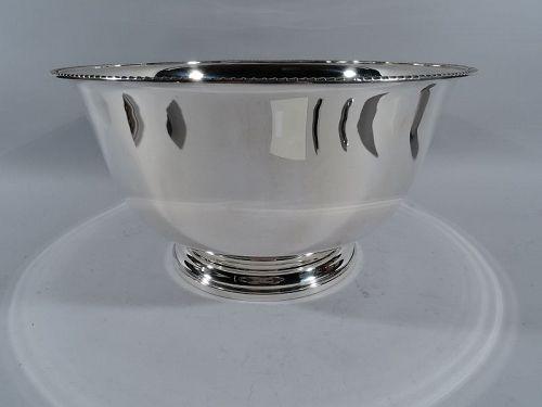 Large Georg Jensen USA Sterling Silver Centerpiece Trophy Bowl