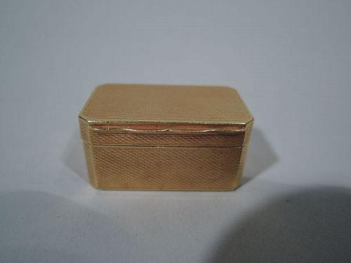 Antique English 18K Gold Vinaigrette by by Samson Mordan 1876