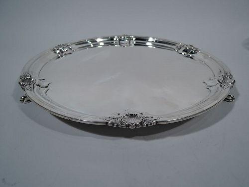 English Modern Georgian Sterling Silver Salver Tray