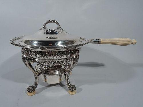 Antique Gorham Edwardian Sterling Silver Chafing Dish