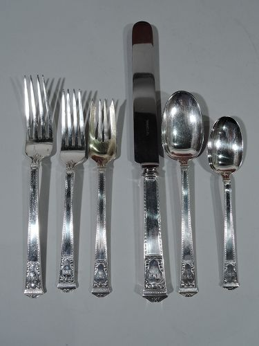 Tiffany San Lorenzo Sterling Silver Dinner & Lunch Set for 12