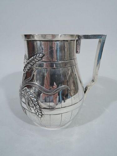 Indian Colonial Silver Beer Barrel Mug by Allan & Hayes