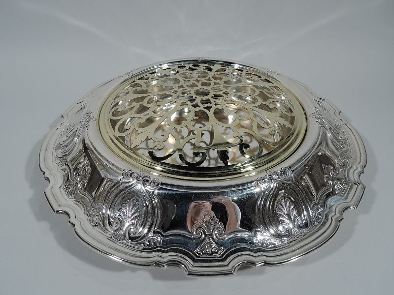 Antique Tiffany Classical Sterling Silver Centerpiece Flower Bowl