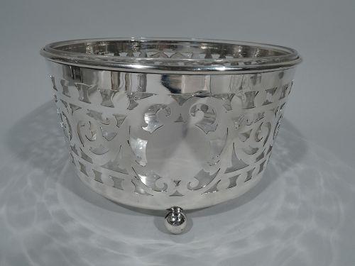 Large Antique Gorham Edwardian Pierced Sterling Silver Ice Bucket