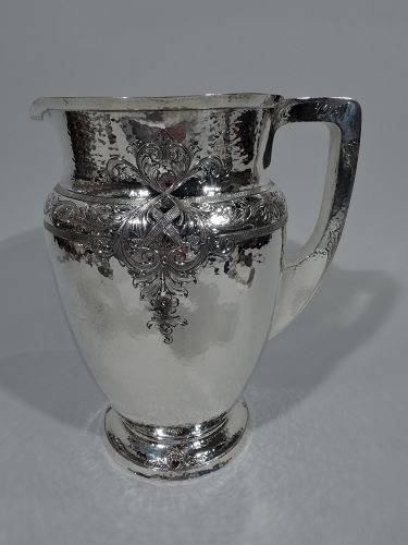 Whiting Craftsman Hand-Hammered Sterling Silver Water Pitcher