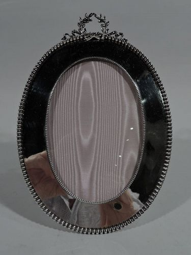 Antique American Classical Sterling Silver Picture Frame by Shiebler