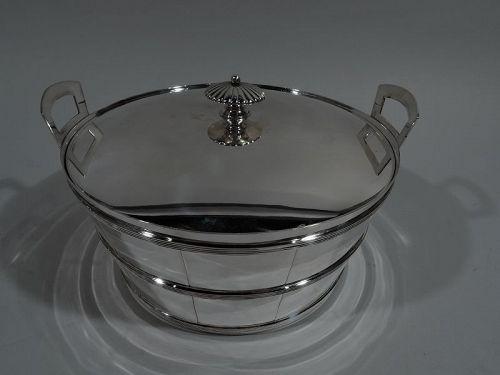 Tiffany Danish Modern Sterling Silver Barrel Ice Bucket