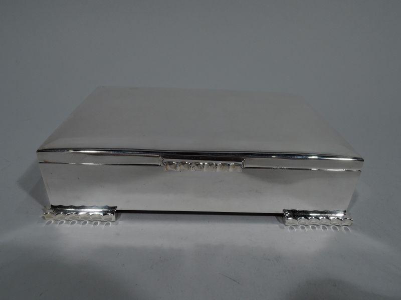Stylish Midcentury Modern Sterling Silver Box