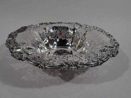 Antique Gorham Edwardian Art Nouveau Sterling Silver Bowl 1907