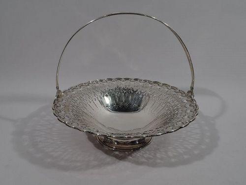 Large Tiffany Edwardian Art Nouveau Sterling Silver Basket