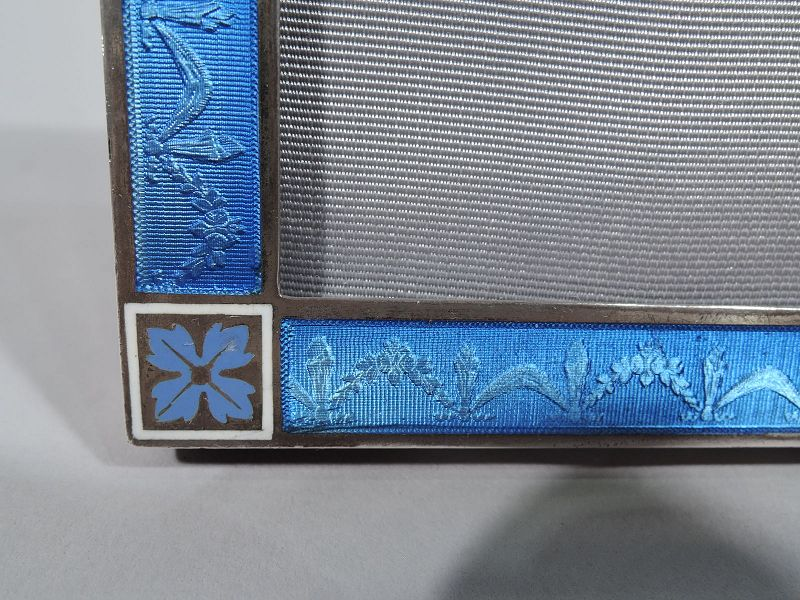 Small Antique Edwardian Regency Silver and Enamel Picture Frame