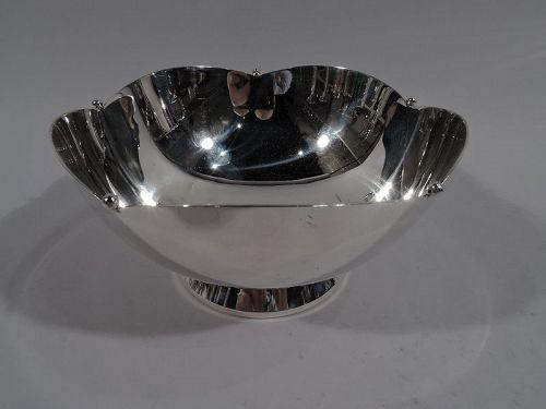 Cartier American Art Deco Sterling Silver Petal Bowl