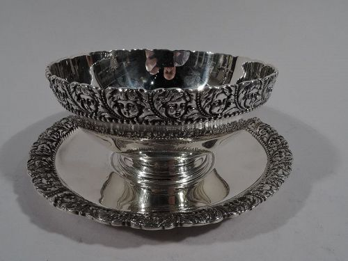 Antique Tiffany Classical Sterling Silver Sauce Bowl on Stand