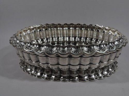 Mario Buccellati Modern Classical Sterling Silver Centerpiece Bowl