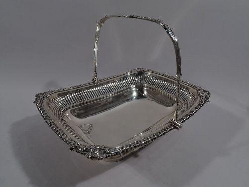 English Regency Neoclassical Sterling Silver Basket by Paul Storr