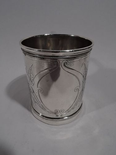 Antique Gorham American Classical Coin Silver Baby Cup C 1865