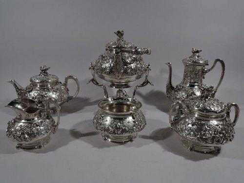 Rare & Fabulous Tiffany Bird's Nest 6-Piece Coffee & Tea Set