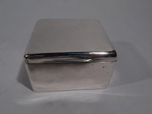 Handsome English Edwardian Sterling Silver Trinket Box