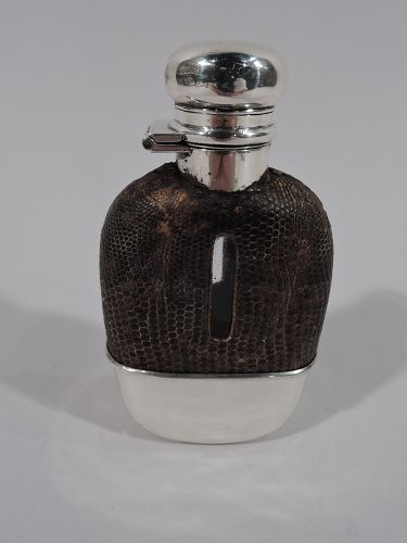 American Edwardian Sterling Silver Lady�s Medicinal Safari Flask