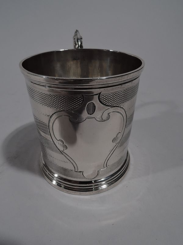 New York Classical Coin Silver Baby Cup by Wood & Hughes
