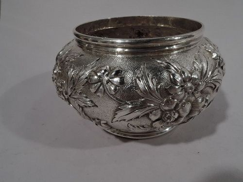 Turn-of-the-Century Baltimore Repousse Sterling Silver Bowl by Kirk