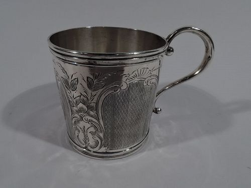 Antique American Classical Coin Silver Baby Cup