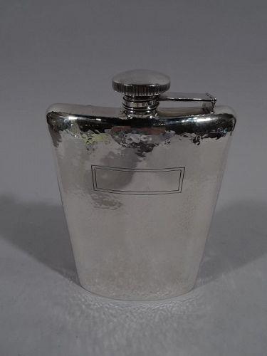 American Craftsman Hand-Hammered Sterling Silver Flask