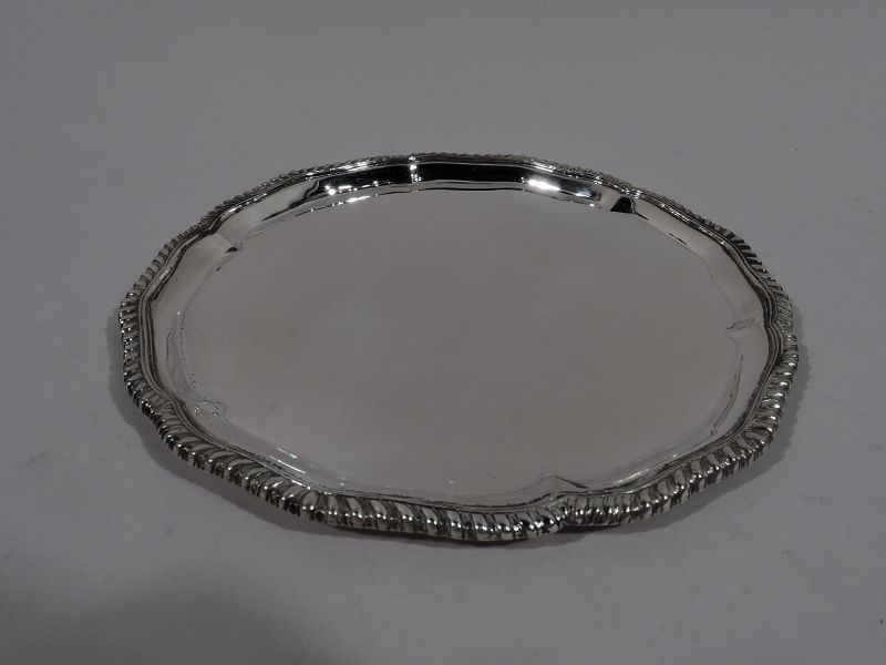 Set of 18 Antique Georgian-Style Sterling Silver Bread & Butter Plates