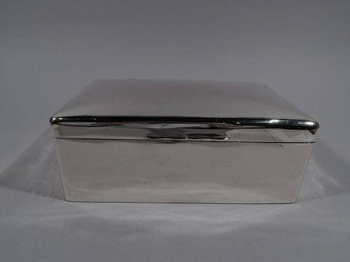 Large Antique English Sterling Silver Box 1919
