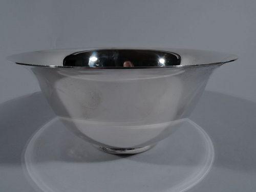 Allan Adler Midcentury Modern Sterling Silver Revere Bowl