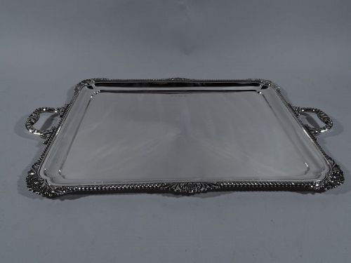 English Modern Georgian Sterling Silver Tea Tray 1937