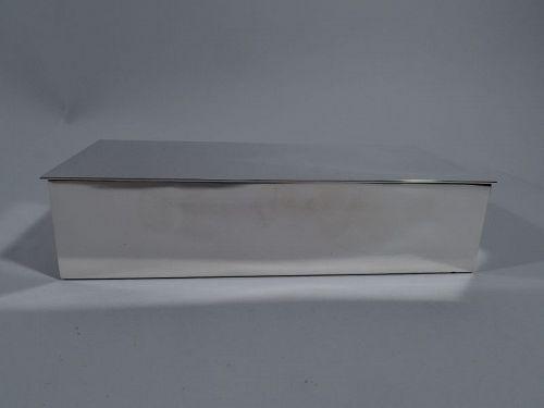 Smart & Modern Sterling Silver Desk Box by Tiffany
