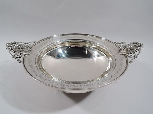 American Classical Sterling Silver Medallion Centerpiece Bowl C 1870