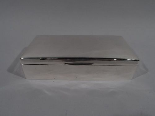 English Edwardian Modern Sterling Silver Box 1904