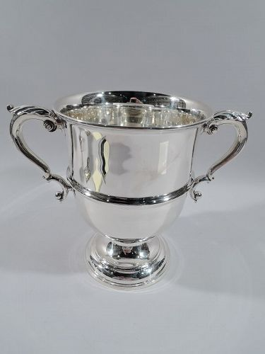 Antique American Edwardian Sterling Silver Classical Urn Trophy Cup